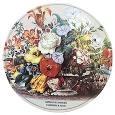Spring Flowers Currier & Ives tin