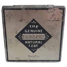 Liggett & Myers Tobacco tin The Genuine Drummond Natural Leaf Tin