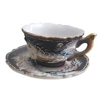 Vintage Acra China Dragonware Moriage Demitasse cup and saucer