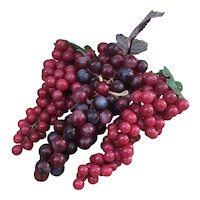 Three bunches of soft plastic grape clusters, wine grape decor