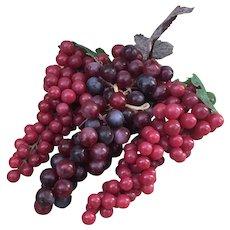 Three bunches of soft plastic grape clusters, wine grape decor
