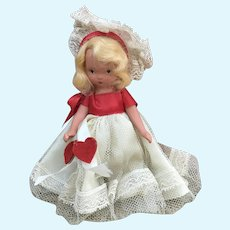 Nancy Ann Story Book doll with Hearts on Sash