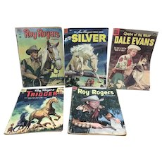 Vintage Dell Comics Roy Rogers, Dale Evans, Trigger and Silver comics