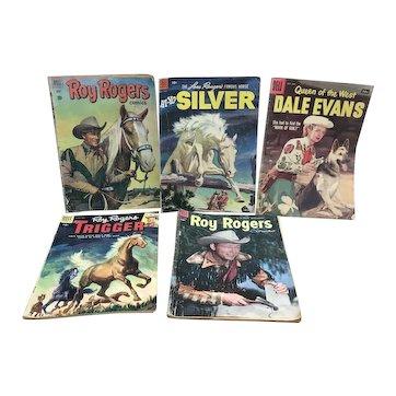 Vintage Dell Comics Roy Rogers, Dale Evans, Trigger and Silver comics