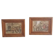 Vintage pair of Anton Pieck wall art, 3d wall art
