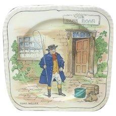Alfred Meakin Plate Dickens Character, Gloria Shape plate