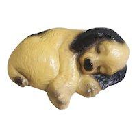 Ceramic Puppy curled up sleeping figurine