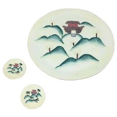 1996 Young's Inc. Noahs Ark Ceramic plate set