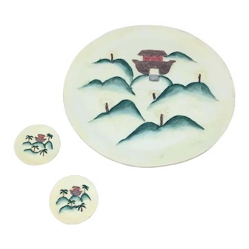 1996 Young's Inc. Noahs Ark Ceramic plate set