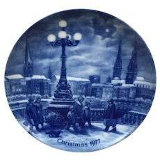 Beautiful Berlin Design Christmas Eve in Hamburg 1977 collectors plate