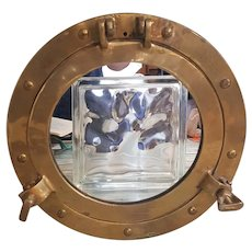 Solid Brass Porthole mirror, Unisilver Solid Brass mirror