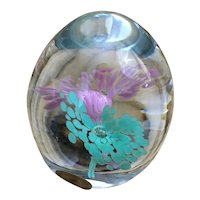 Handmade from Sweden Granna Glashytta glass paperweight
