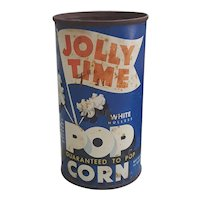 Mid Century Jolly Time popcorn tin