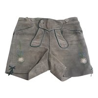 Vintage authentic suede leather Lederhosen