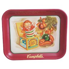 Vintage Campbells soup tray Pop goes the Campbell kid tray
