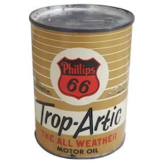 Phillips 66 Trop-Artic tin can bank