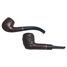 Pair of tobacco pipes, Medico Cavalier Imported Briar and a Red Dot Imported Briar