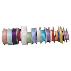 15 rolls of Vintage Ribbon rolls