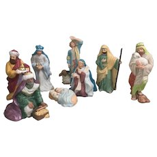 1990's Hallmark Blessed Nativity ornaments complete set of eight
