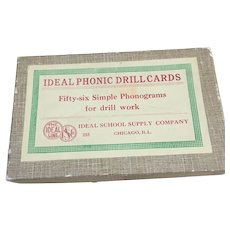 Ideal Phonic Drill cards early century flash cards