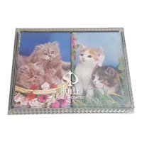 Cute kitten Hoyle playing cards set of two