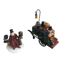 Dept 56 Heritage Village Collection Chelsea Market Hat Monger & Cart