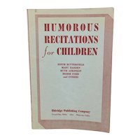 Humorous Recitations for Children, A collection for younger folks