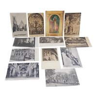 12 vintage Religious post cards unused