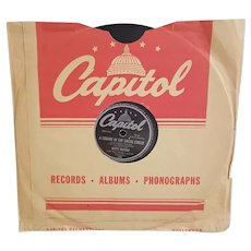 1940's Betty Hutton record album 78 rpm, from the movie The Stork Club, Doctor Lawyer Indian Chief