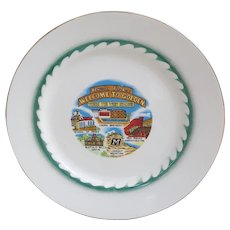 Vintage Howdy Folks Ceramic Souvenir Plate Golden CO, Coors brewing Colorado plate