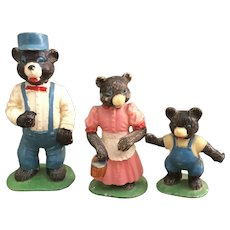 Cute set of The Three Bears Marx Fairykins figurines