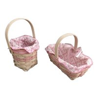 Pair of American Cancer Society Longaberger baskets