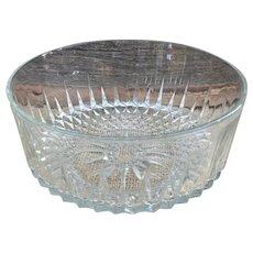 Arcoroc France clear glass serving bowl diamond starburst pattern