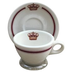 Crown Sterling China Wellsville Ohio USA cup and saucer