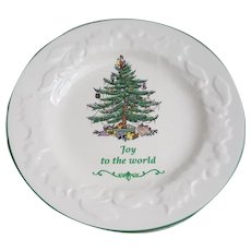 Spode England Joy to the World Christmas tree plate