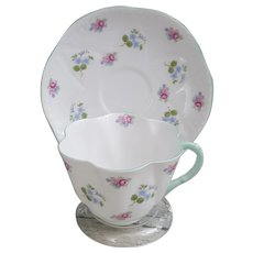 Shelley Fine Bone China Rose Forget Me Not 13920 cup and saucer