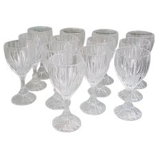Mikasa Park Lane Crystal Water Goblets set of 13-Free US shipping