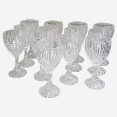 Mikasa Park Lane Crystal Water Goblets set of 13-Free US shipping