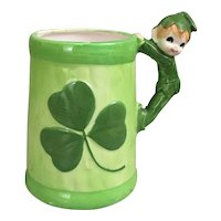 Hand painted Leprechaun Pixie Elf mug-Irish Mug