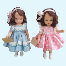 Pair of Nancy Ann Back to school dolls
