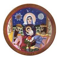 1985 Hedi Keller Plate Die Gabe der drei Weisen Nativity scene plate