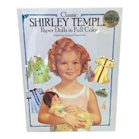 Unopened Classic Shirley Temple paper dolls in full color two complete books