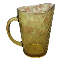 Beautiful Eight cup Amber pitcher