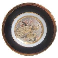The Art of Chokin, Chokin Peacocks collectors plate 24k gold edge