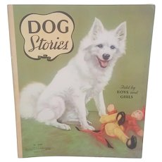 1937 Saalfield Dog Stories, Saalfield Publishing No 2152 Dog Stories book