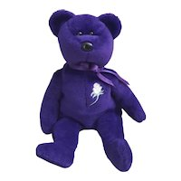 1997 TY Beanie Baby Purple Princess Bear, Princess Diana Beanie Baby