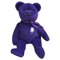 1997 TY Beanie Baby Purple Princess Bear, Princess Diana Beanie Baby