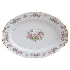 "1940's Noritake Chinapeony platter, Noritake pattern 3060 platter 17"""