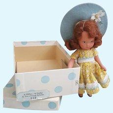 Nancy Ann Storybook Doll 112 A Dillar A  Dollar A Ten o'Clock Scholar with box