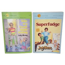 Two vintage Judy Blume Books, Superfudge and Tails of the Forth Grade Nothing